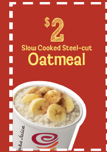 $2 Slow Cooked Steel-cut Oatmeal