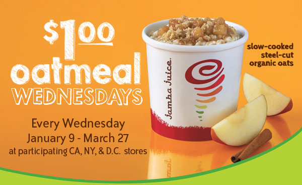 $1 Oatmeal Wednesdays!