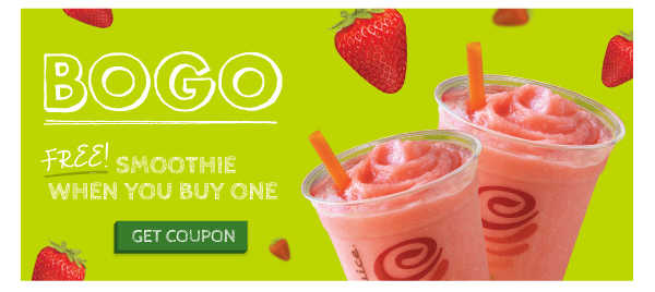 Free Smoothie when you Buy 1 - click for coupon!